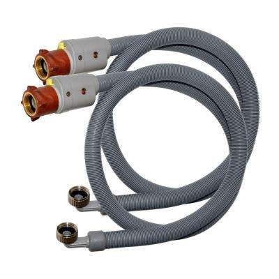 6 ft. L Flood Armour with 3/4 in. FHT x 3/4 in. FHT Elbow Washing Machine Hose (2-Pack)