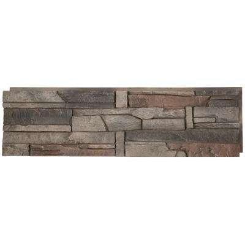 Stacked Stone Kenai 12 In. X 42 In. Faux Stone Siding Half Panel (