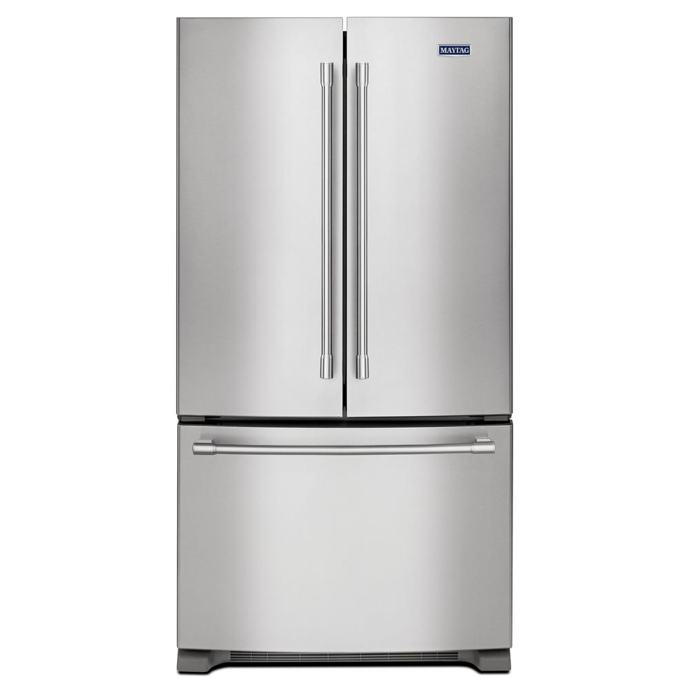 french door refrigerators maytag 36 in w 25 2 cu ft door refrigerator in 10787