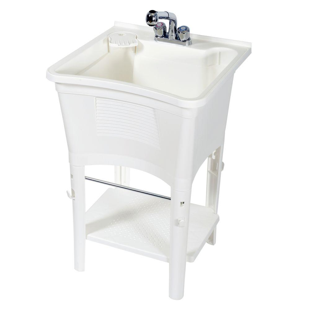 Zenna Home Ergo Tub Full Featured Freestanding 24 in. W x 36 in. H ...