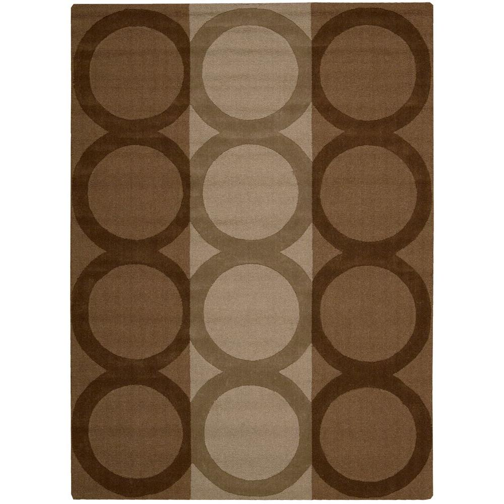 Nourison Overstock Patagonia Chocolate 5 ft. 6 in. x 7 ft. 4 in. Area Rug