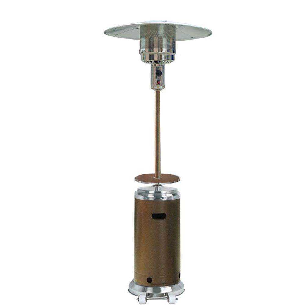 home depot patio heater AZ Patio Heaters 48,000 BTU Stainless Steel/Hammered Bronze Gas  home depot patio heater
