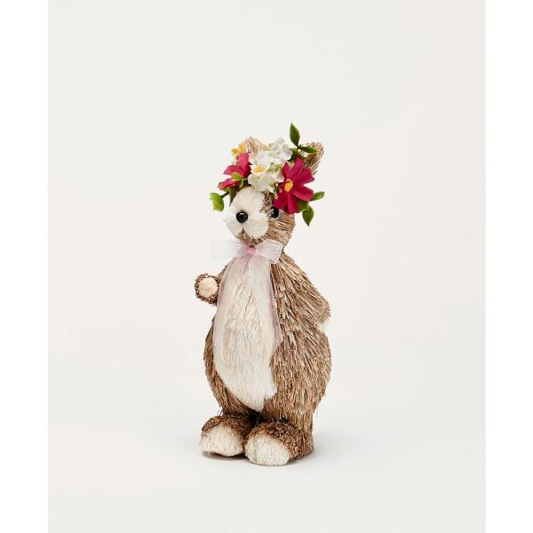 7 in. Standing Bunny with Flowers (Set of 2)