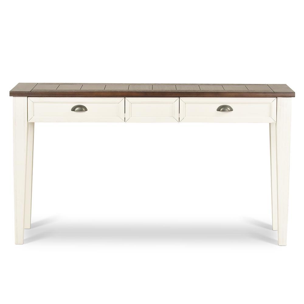 Cayla Sofa Dark Oak and White Table Dark