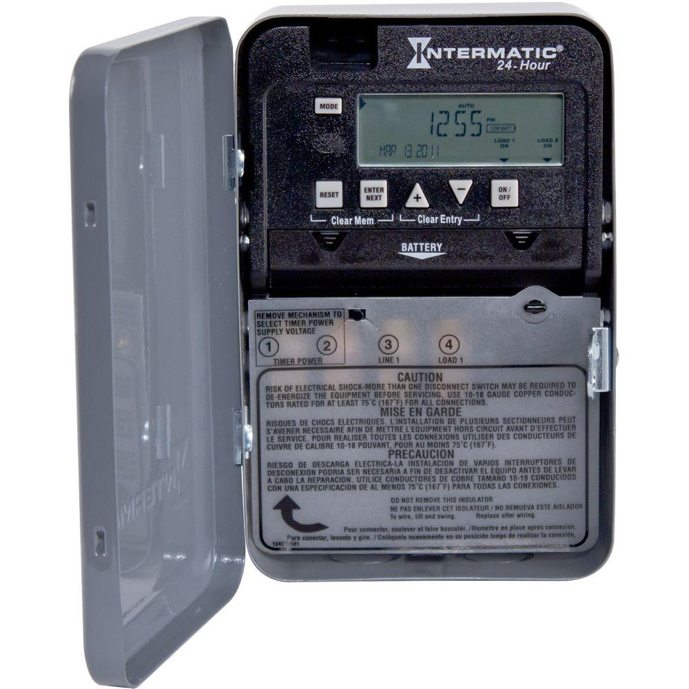 Intermatic 30 Amp 24-Hour SPST 1-Circuit Electronic Time Switch