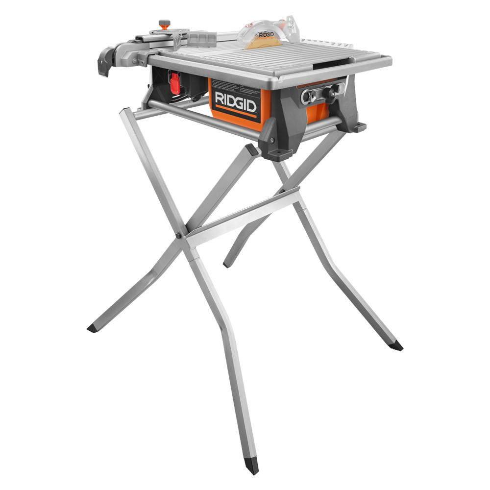 Ridgid 6 5 Amp Corded 7 In Table Top Wet Tile Saw With Stand