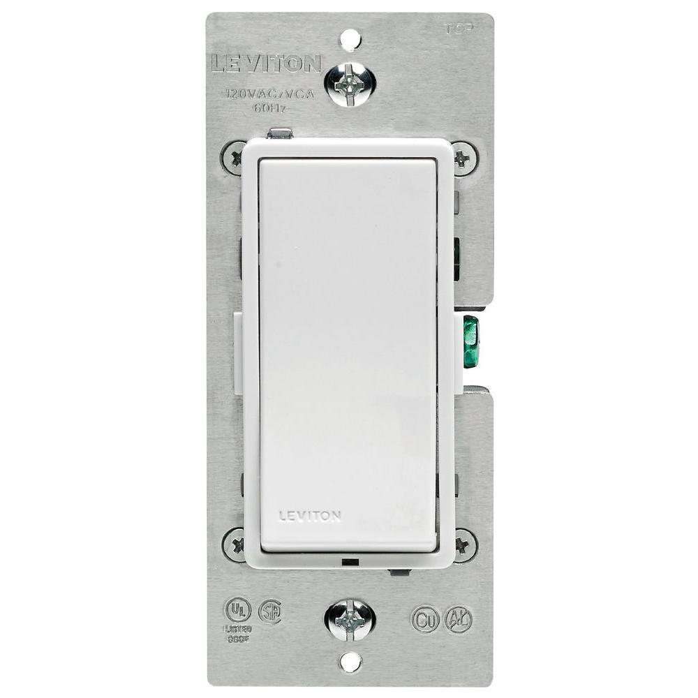 Leviton Decora Z-Wave Controls 15 Amp Scene Capable Switch, White ...