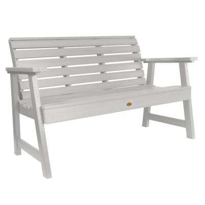 Weatherly 60 in. 2-Person WhiteRecycled Plastic Outdoor Garden Bench