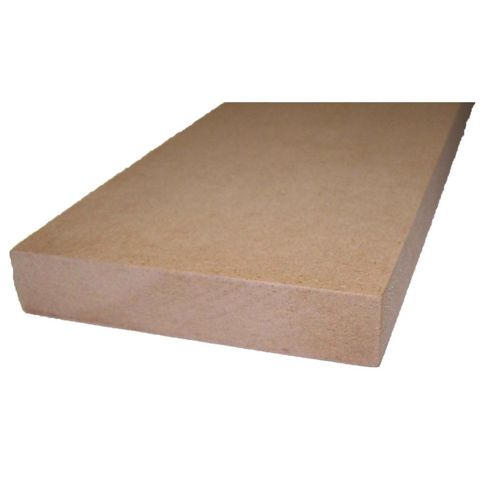 3/4 in. x 11-1/4 in. x 8 ft. Shelving MDF Board