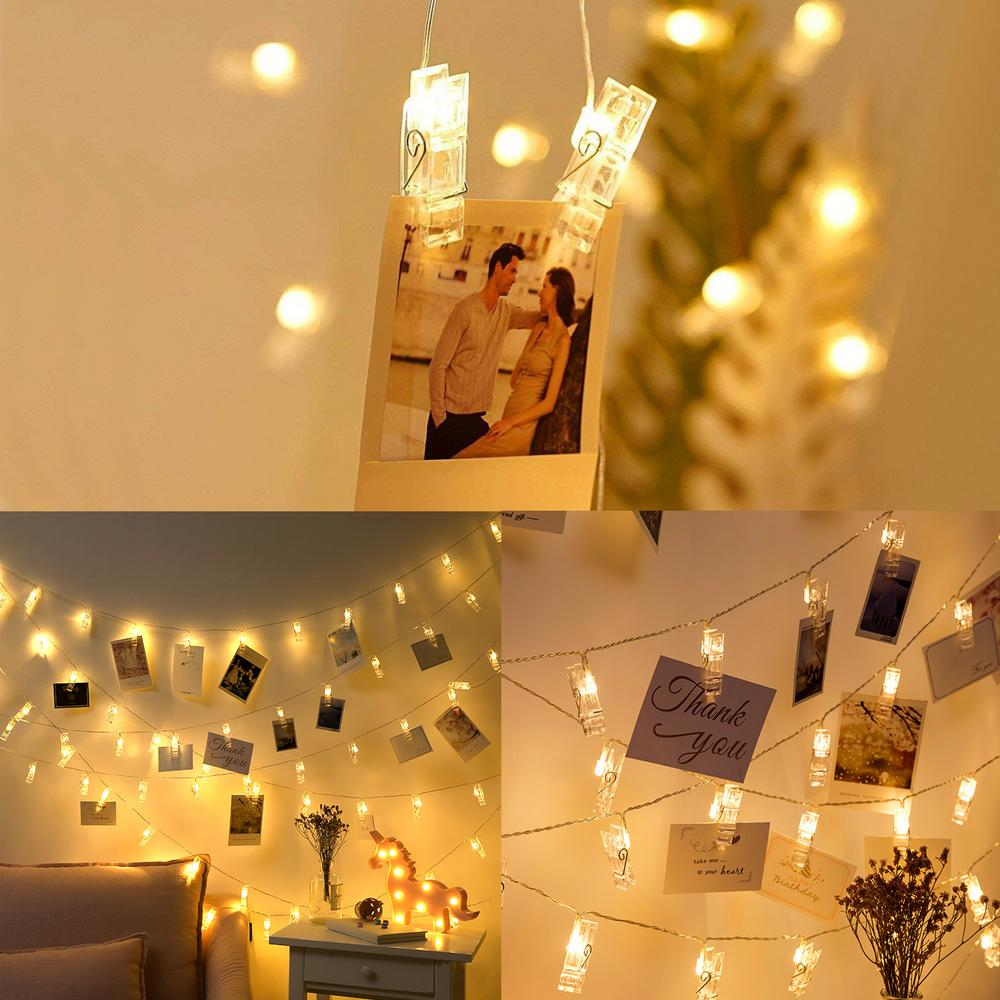 Photo Clips Warm White String Lights