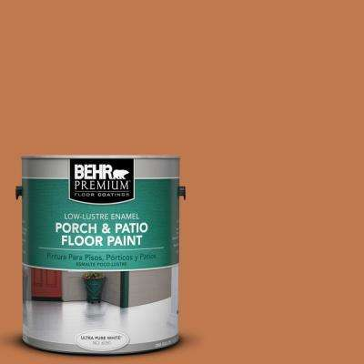 1 gal. #240D-6 Chivalry Copper Low-Lustre Interior/Exterior Porch and Patio Floor Paint