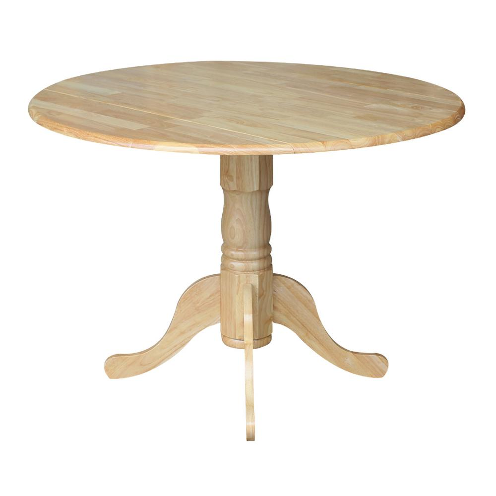 International Concepts Natural Drop-Leaf Dining Table