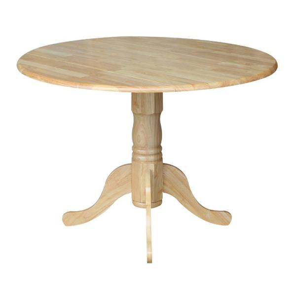 International Concepts Natural Drop-Leaf Dining Table T01-42DP