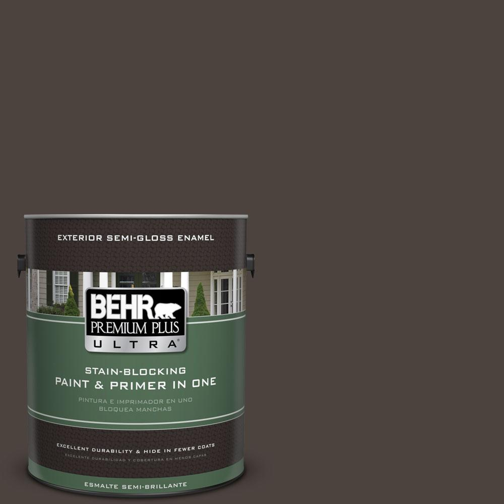BEHR Premium Plus Ultra 1-gal. #ECC-41-2 Willow Wood Semi-Gloss Enamel Exterior Paint