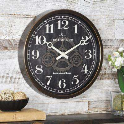 12 in. Round Industrial Gears Wall Clock