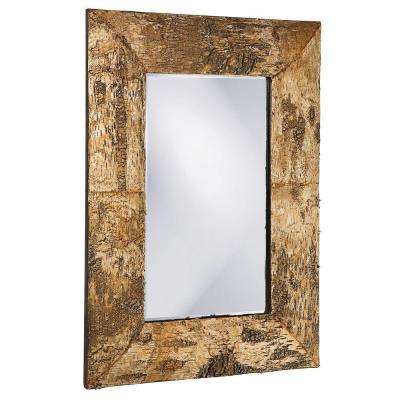 36 in. x 26 in. Birch Bark Framed Mirror