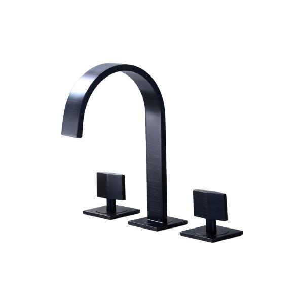 LUXIER 8 in. Widespread 2 Handle Contemporary Bathroom Faucet with