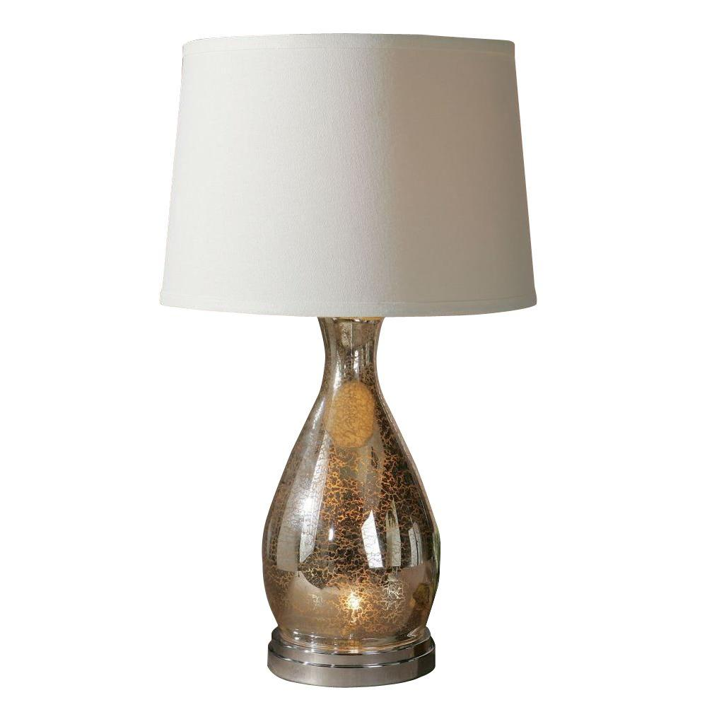 Global Direct 28 in. Mercury Glass Table Lamp