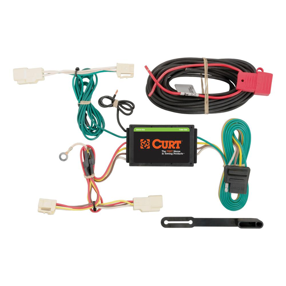 Strange Curt Custom Wiring Harness 4 Way Flat Output 56246 The Home Depot Wiring 101 Breceaxxcnl