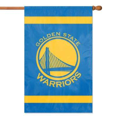 Golden State Warriors Applique Banner Flag