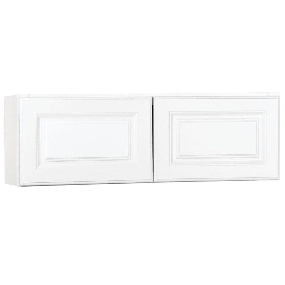 Hampton Bay Hampton Assembled 30x12x12 in. Wall Bridge Kitchen Cabinet in Satin White