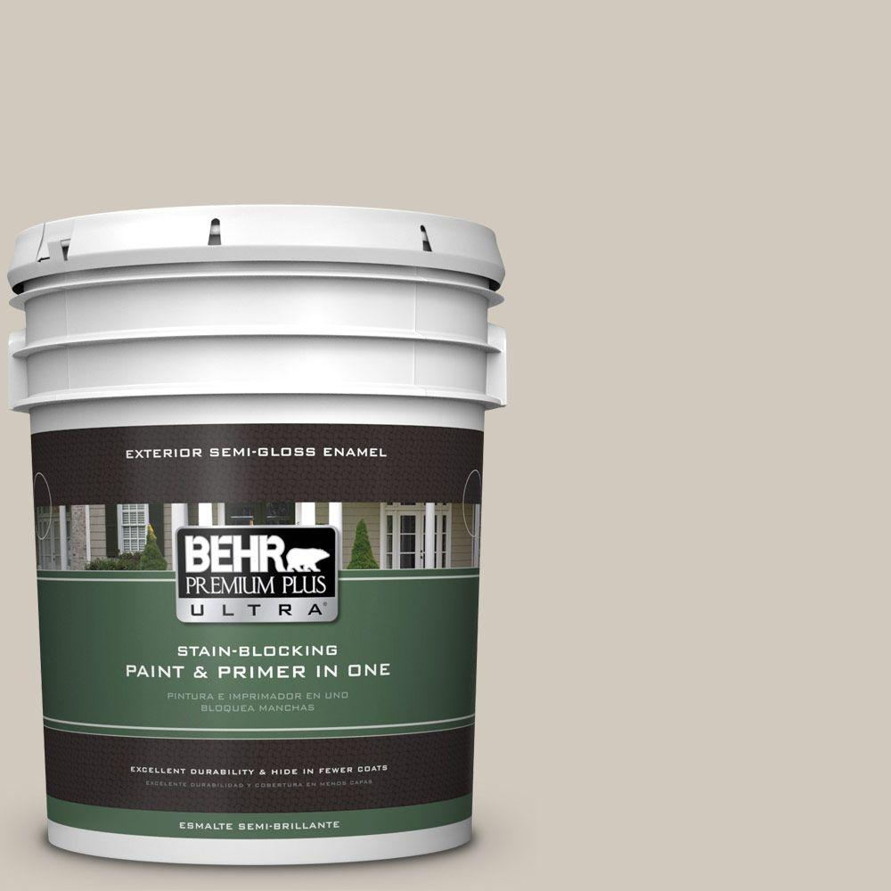 BEHR Premium Plus Ultra 5-gal. #PPF-21 Porch Swing Beige Semi-Gloss Enamel Exterior Paint