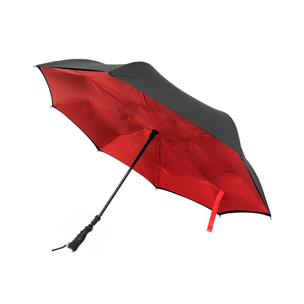 Better Brella Auto Collapsible With Flashlight New