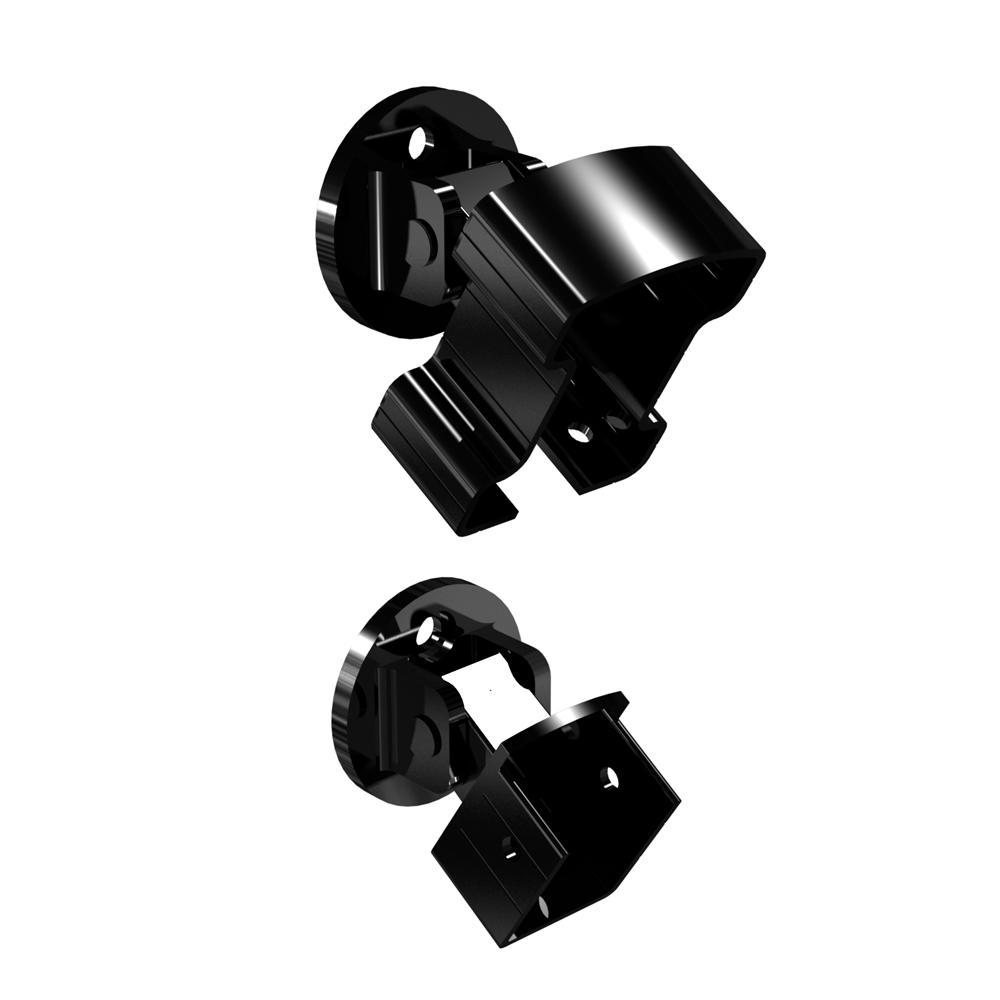 Black Aluminum Stair Rail Bracket Kit