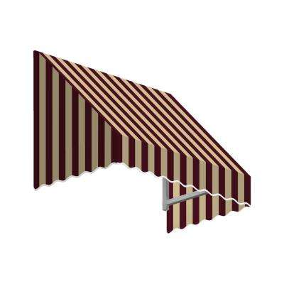 5.38 ft. Wide San Francisco Window/Entry Awning (24 in. H x 48 in. D) Burgundy/Tan