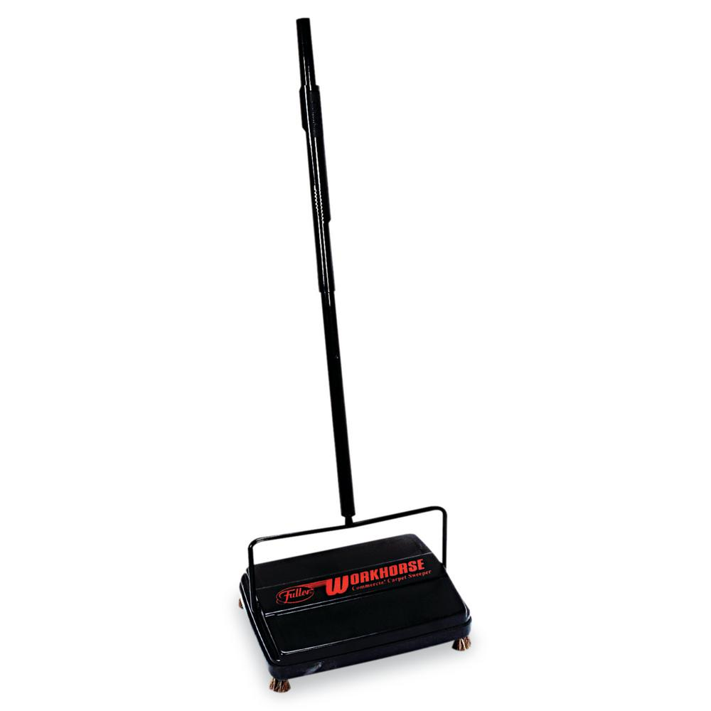 46 in. Workhorse Carpet Sweeper in Black