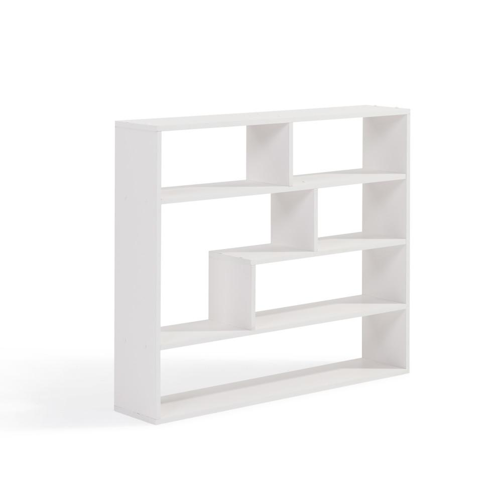 37 in. x 32 in. White Laminated Rectangular Floating Wall Shelf