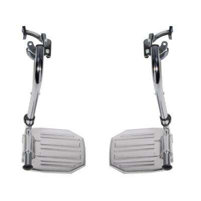 Pair of Chrome Swing Away Footrests with Aluminum Footplates