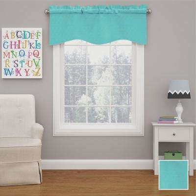 Kendall 18 in. L Polyester Rod Pocket Valance Turquoise (1-Pack)