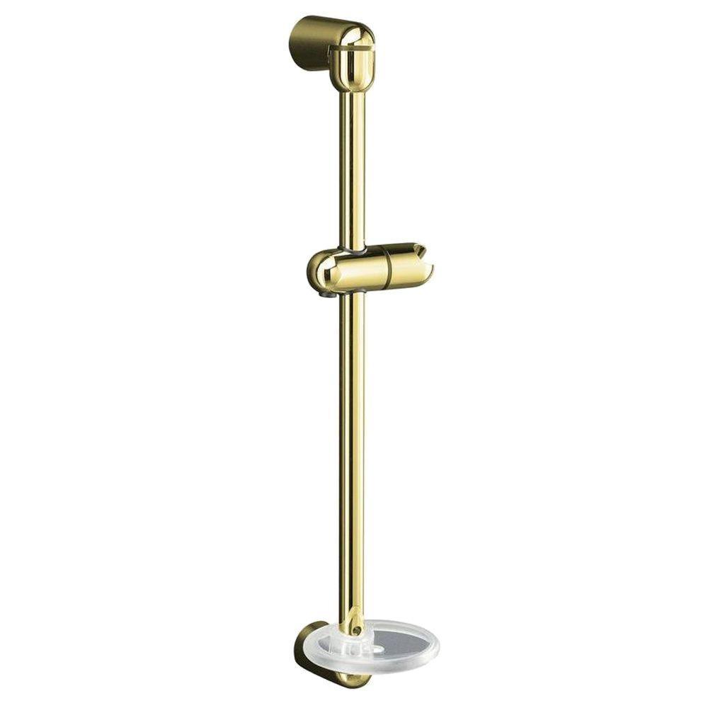 KOHLER MasterShower 23-3/4 in. Shower Slide Bar in Vibrant Polished Brass