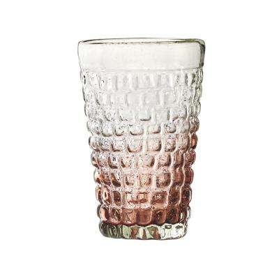 Cobblestone 20 oz. 4-Piece Amethyst Glass Ombre Hiball Drinkware Set