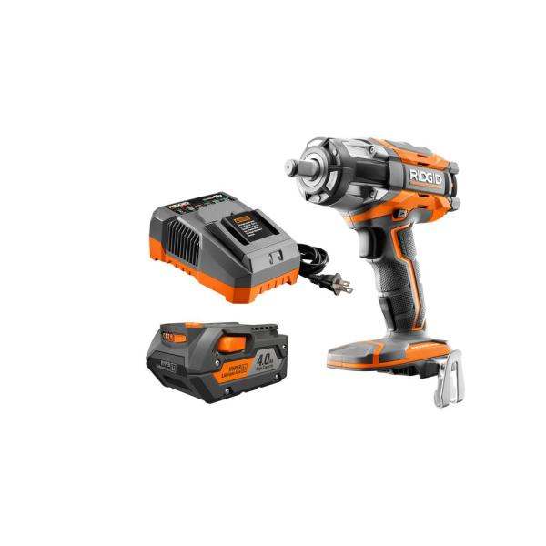 18-Volt OCTANE Lithium-Ion Cordless Brushless 4-Mode Compact Impact Wrench Kit with (1) 4 Ah Battery and 18-Volt Charger