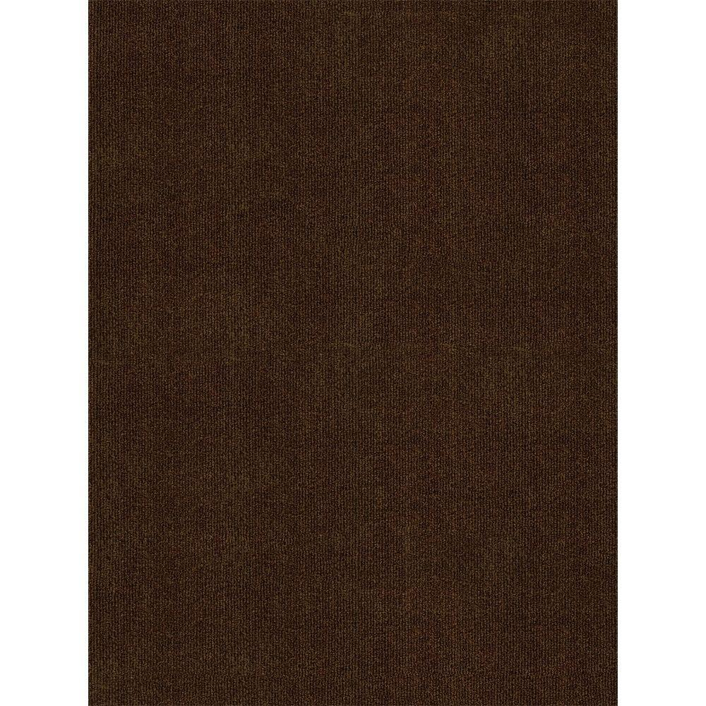 foss ribbed chocolate 6 ft x 8 ft indoor outdoor area rug cp45n30pj1h1 the home depot. Black Bedroom Furniture Sets. Home Design Ideas