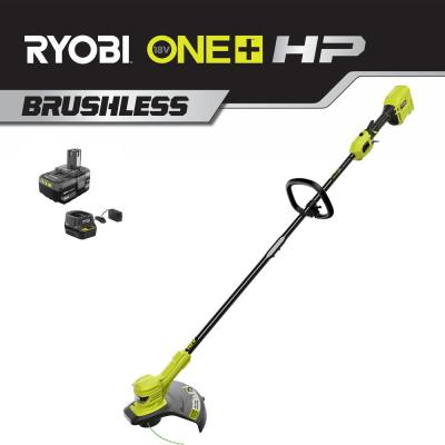 ONE+ HP 18-Volt Brushless Lithium-Ion Cordless String Trimmer - 4.0 Ah Battery and Charger