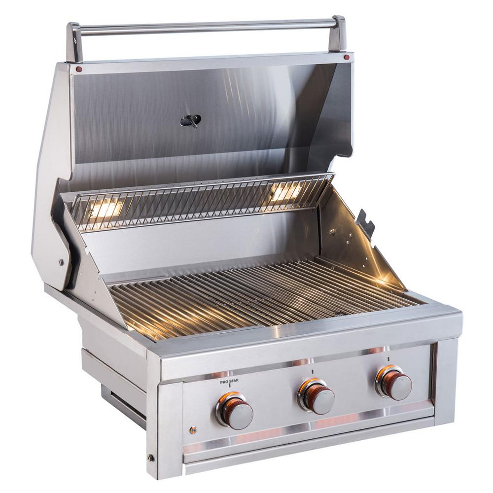 sunstone ruby 3 burner pro sear 30 in gas grill natural gas