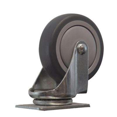 4 in. Thermoplastic Rubber Swivel Caster