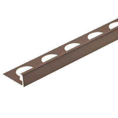 Brushed Antique Bronze Anodized 3/8 in. x 98-1/2 in. Aluminum L-Shaped Tile Edging Trim
