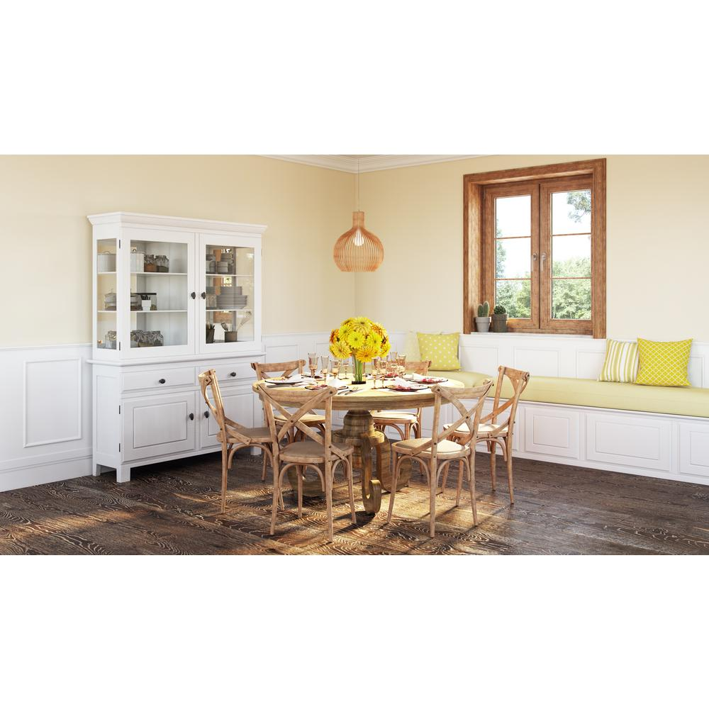 Home Depot Home Furnishings: International Concepts Oak Skirted Dining Table-T04-42DP