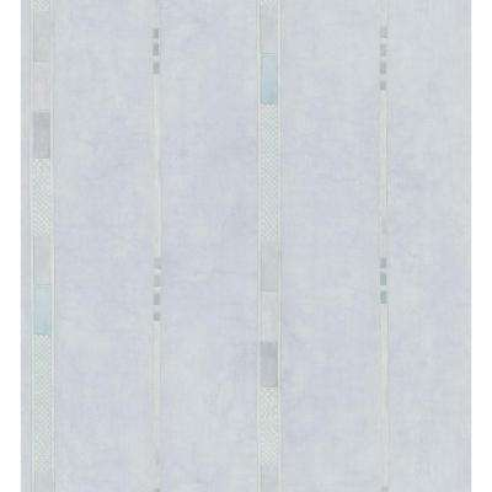 Kitchen and Bath Resource II Blue Whimsy Geometric Stripe Wallpaper Sample