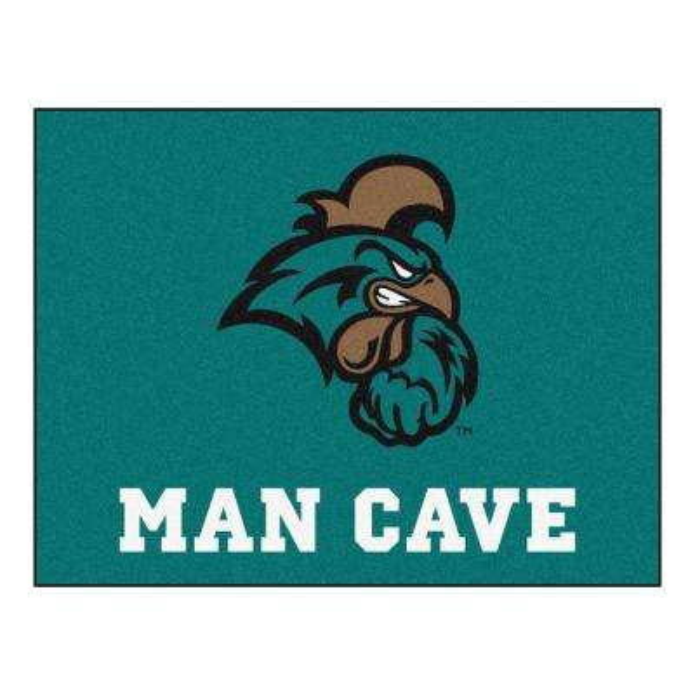 NCAA Coastal Carolina Teal 3 ft. x 4 ft. Indoor Man Cave All Star Area Rug
