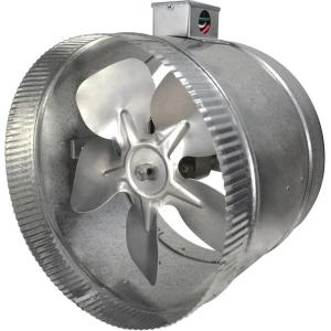 Suncourt 10 in. 2-Speed Inductor Inline Duct Fan with ...