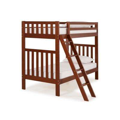 Aurora Chestnut  Twin Over Twin Bunk Bed