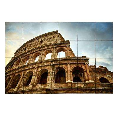Colosseum 36 in. x 24 in. Tumbled Marble Tiles (6 sq. ft. /case)
