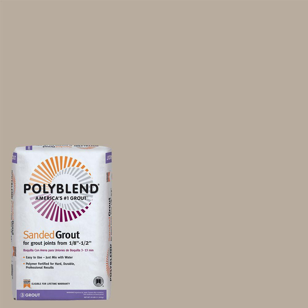 Custom Building Products Polyblend #386 Oyster Gray 25 lb. Sanded Grout