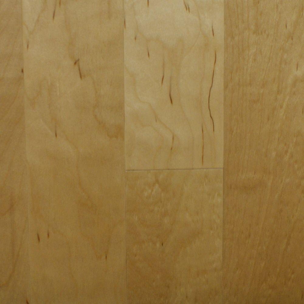 Birch Natural 3 8 In Thick X 4 1 Wide Random Length Engineered Click Hardwood Flooring 20 Sq Ft Case