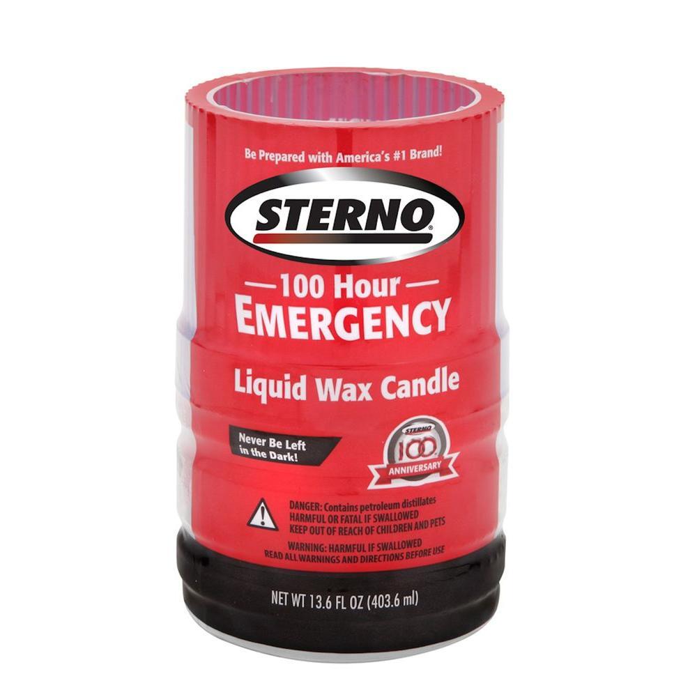 100-Hour Emergency Liquid Wax Candles (4 per Pack)